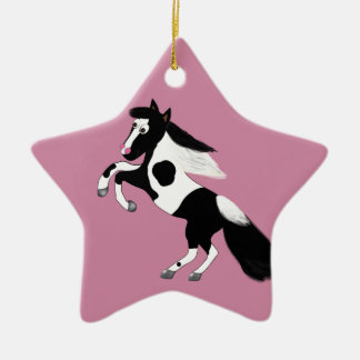 Paint Horse Ceramic Ornament
