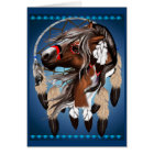 Paint Horse Dreamcatcher Card