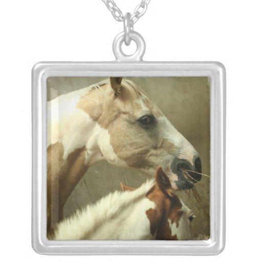 Paint Horse Pair  Necklace