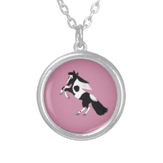 Paint Horse Silver Plated Necklace