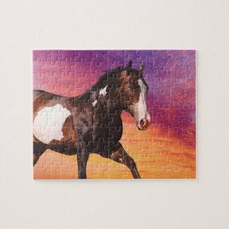 Paint Horse sunrise Puzzle
