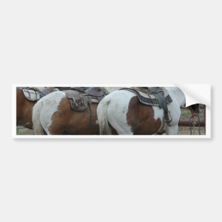 Paint Horse Tail Bumper Sticker