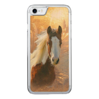 Paint Horse Wood Carved iPhone 7 Case