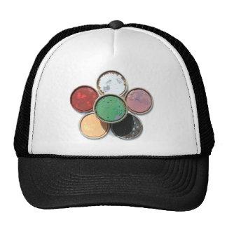 paint lid flower mesh hat