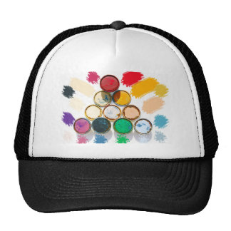 Paint lids- triangle mesh hat