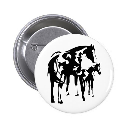 Paint Mare and Foal Buttons