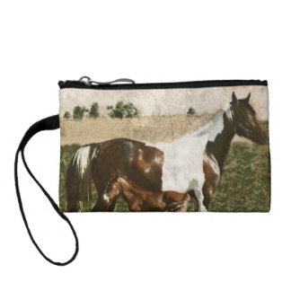 Paint Mare and Foal Coin Wallets