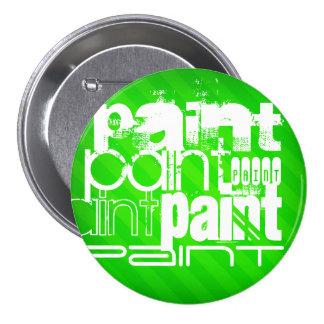Paint; Neon Green Stripes 7.5 Cm Round Badge
