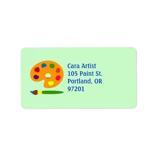 Paint Palette Art Address Label