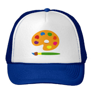 Paint Palette Art Trucker Hat