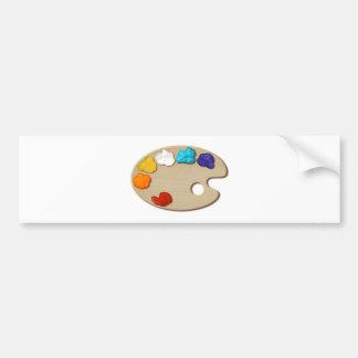 Paint Palette Bumper Sticker