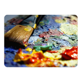 Paint Palette Closeup 13 Cm X 18 Cm Invitation Card