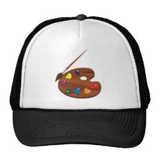Paint palette trucker hats