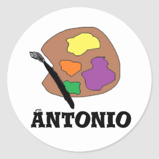 Paint Pallet stickers for Antonio