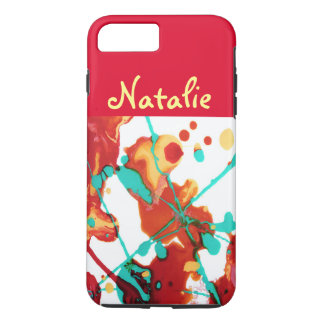 Paint Party Abstract Personalised iPhone 7 Plus Case