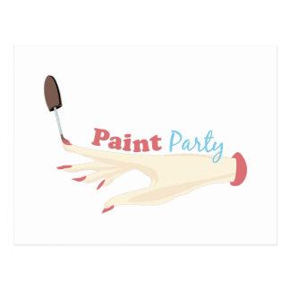 Paint Party Postcard