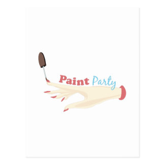 Paint Party Post Cards