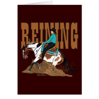 Paint Reining Horse Greeting Card