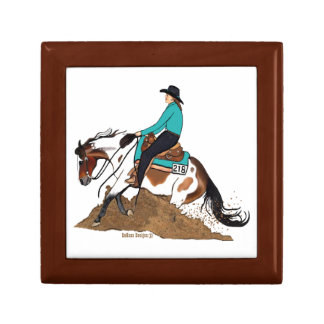 Paint Reining Horse Jewelry/ Gift Box