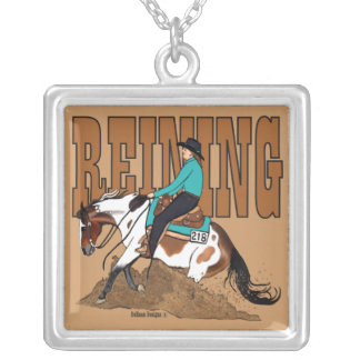 Paint Reining Horse Necklace