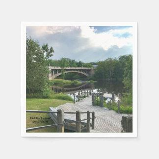 Paint River Boardwalk Paper Napkin