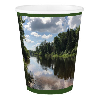 Paint River In Michigan Paper Party Cup