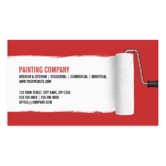 Paint Roller Painting Contractor business card