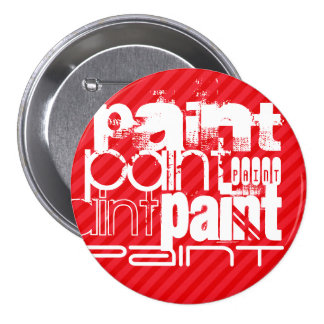 Paint; Scarlet Red Stripes 7.5 Cm Round Badge
