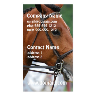 Paint Show Horse Pack Of Standard Business Cards