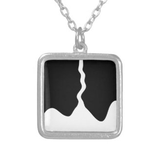 paint silver plated necklace