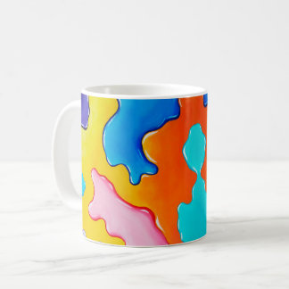 Paint spill coffee mug