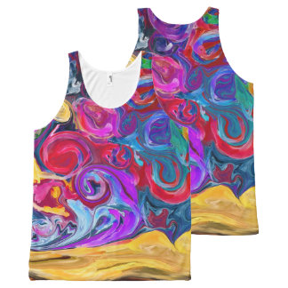 paint splash All-Over print singlet