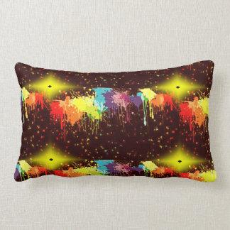 paint splash pillow