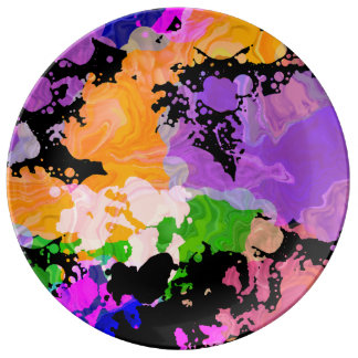 Paint Splash Splatter Print Plate (Orange Focus)