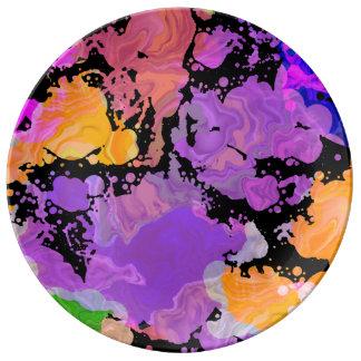 Paint Splash Splatter Print Plate (Purple Focus)