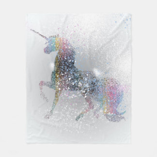 Paint Splash Unicorn Blanket