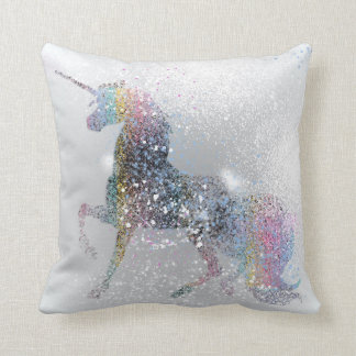 Paint Splash Unicorn Cushion