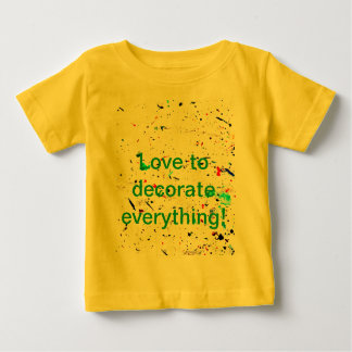 Paint Splashes and Spotty Baby T-Shirt