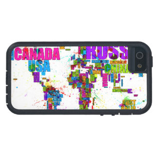 Paint Splashes Text Map of the World iPhone 5/5S Cover