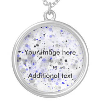 paint splashes, Your image here, Additional text Necklaces