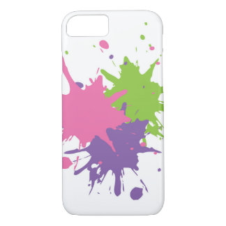 Paint Splat iPhone 7, Barely There Phone Case