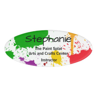 Paint Splats Personalised Name Tag