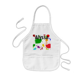 Paint Splats Personalized Kid's Apron