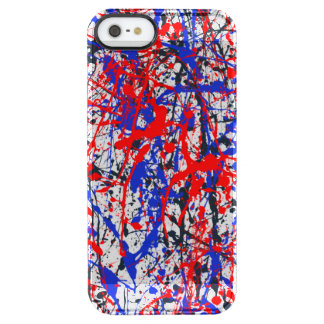 Paint Splatter Abstract Art Clear iPhone SE/5/5s Case