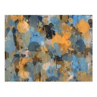 Paint splatter abstract art illustration postcard