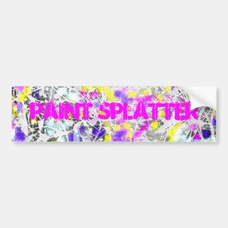 paint splatter and drip art bumper sticker