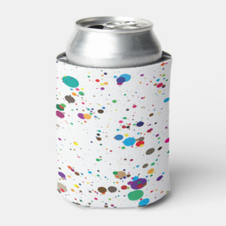 Paint Splatter Can Cooler