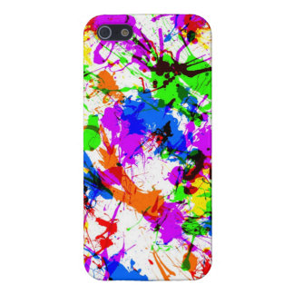 Paint splatter colorful iPhone 5/5S covers