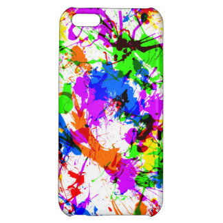 Paint splatter colorful case for iPhone 5C