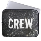 Paint Splatter CREW | Charcoal and White Laptop Sleeve